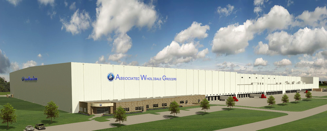 In the future, the automated facility will create more value throughout the supply chain for AWG and its members with more than 55,000 different items: The new logistics center of AWG in Hernando, Mississippi.